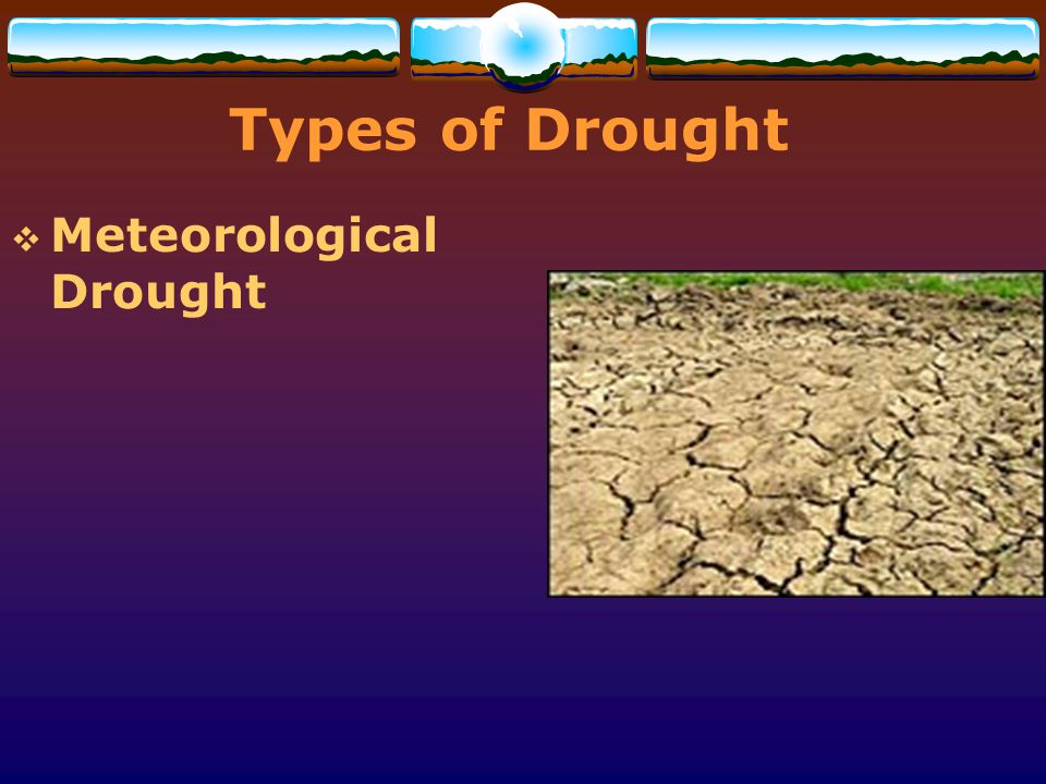 Types of Drought Meteorological Drought