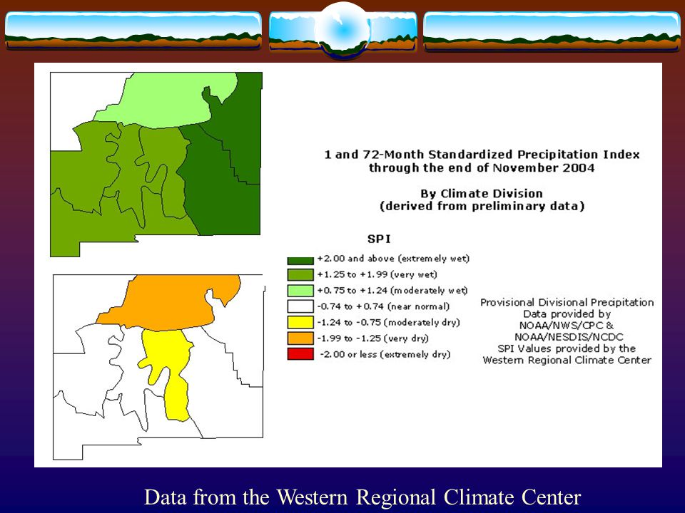 Data from the Western Regional Climate Center