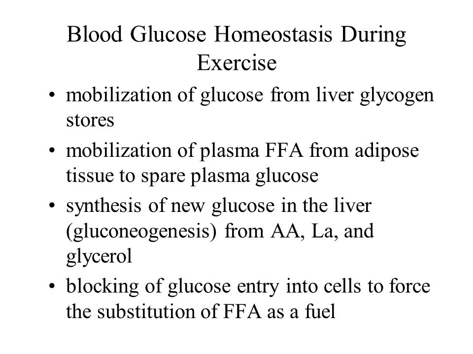 Blood Glucose Homeostasis During Exercise