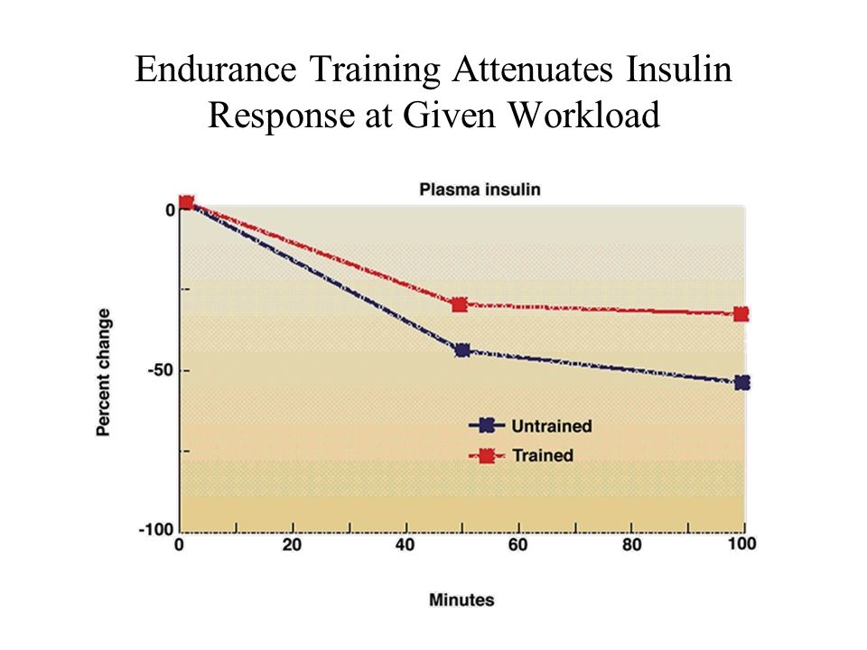 Endurance Training Attenuates Insulin Response at Given Workload