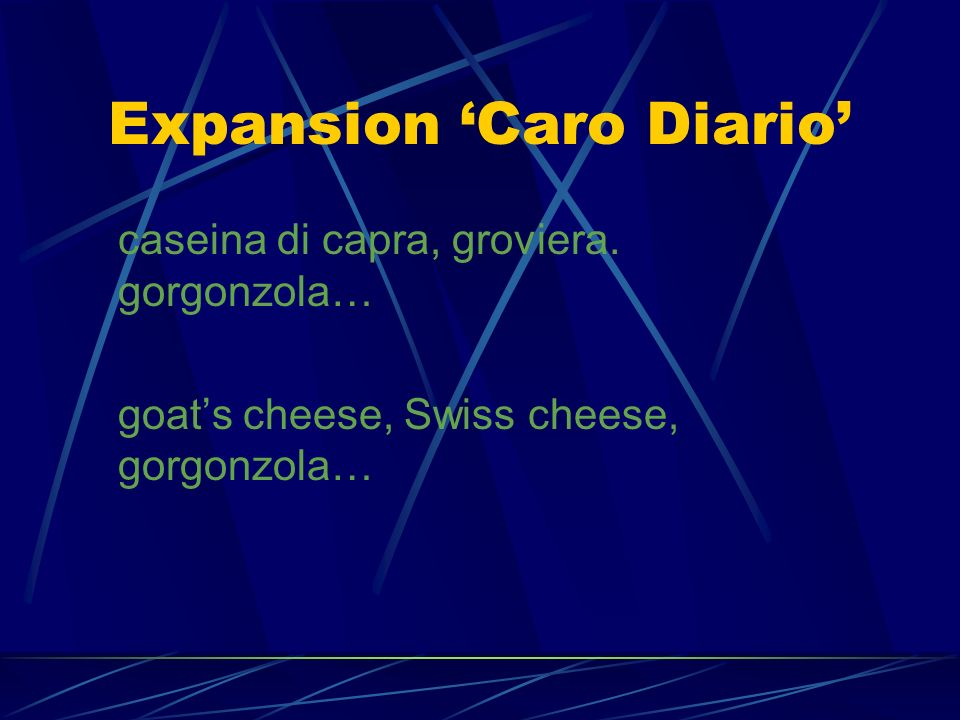 Expansion 'Caro Diario'