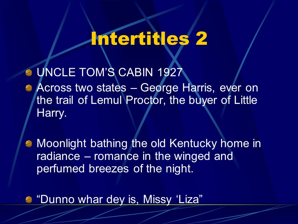 Intertitles 2 UNCLE TOM'S CABIN 1927