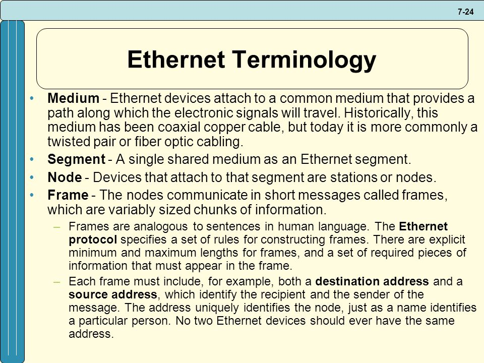 Ethernet Terminology