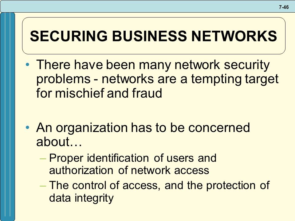 SECURING BUSINESS NETWORKS