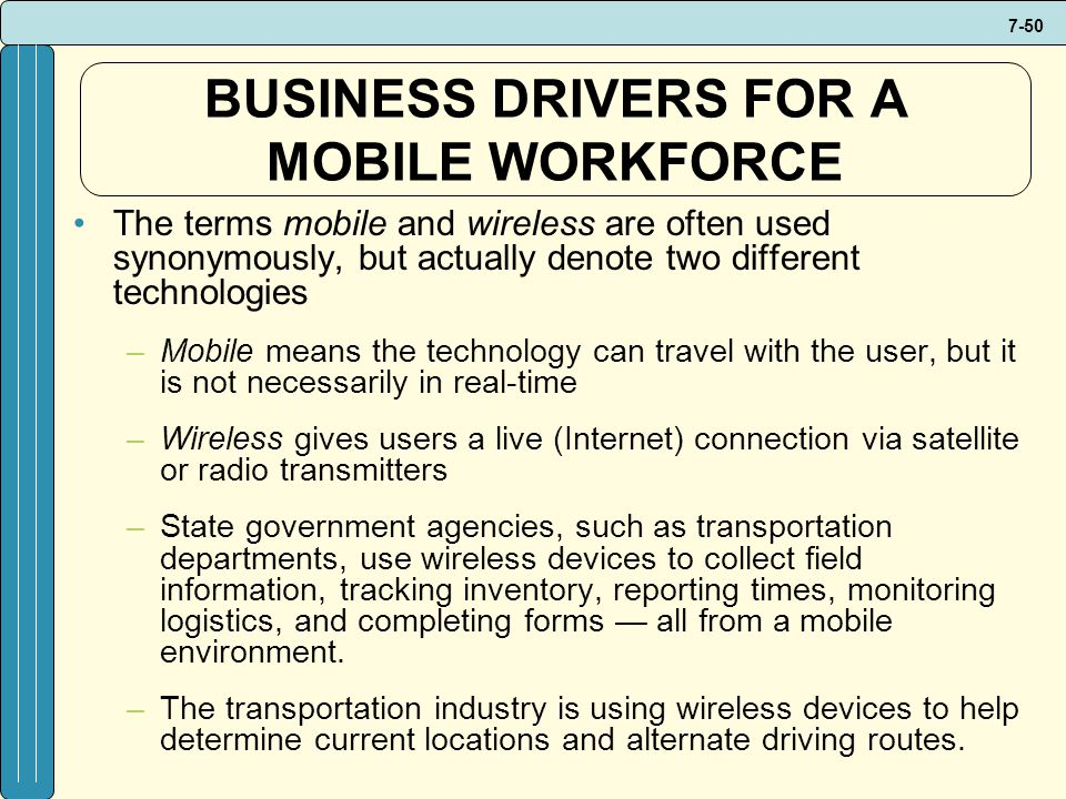 BUSINESS DRIVERS FOR A MOBILE WORKFORCE