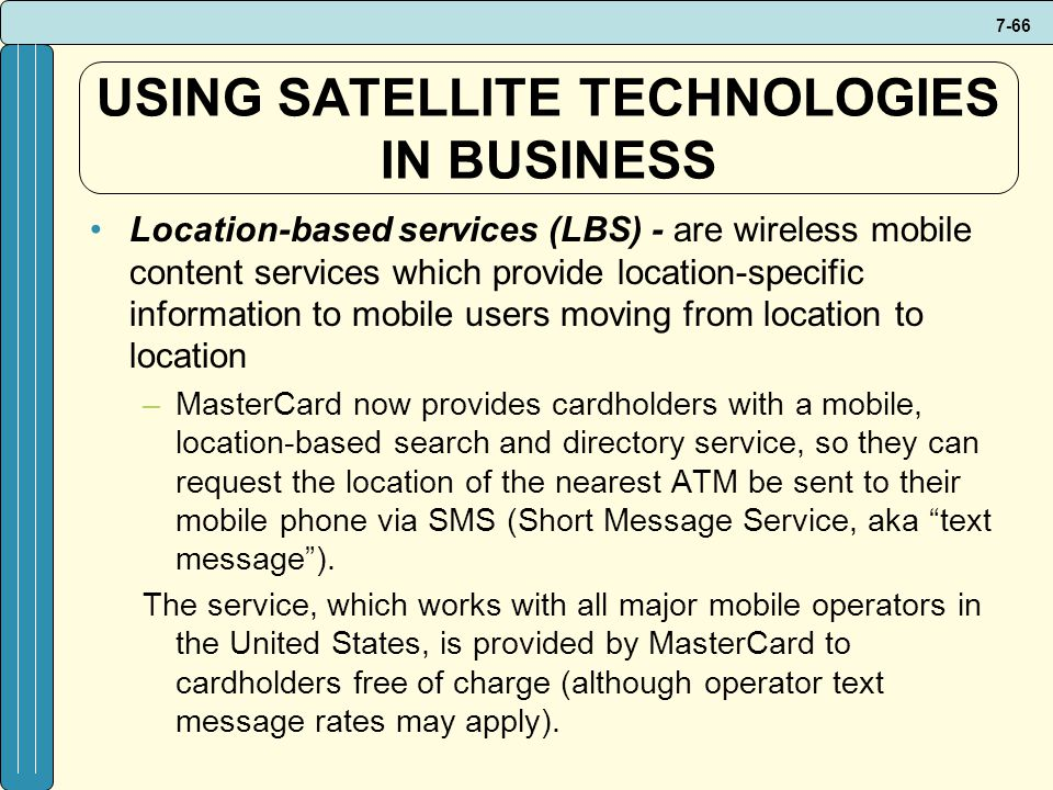 USING SATELLITE TECHNOLOGIES IN BUSINESS