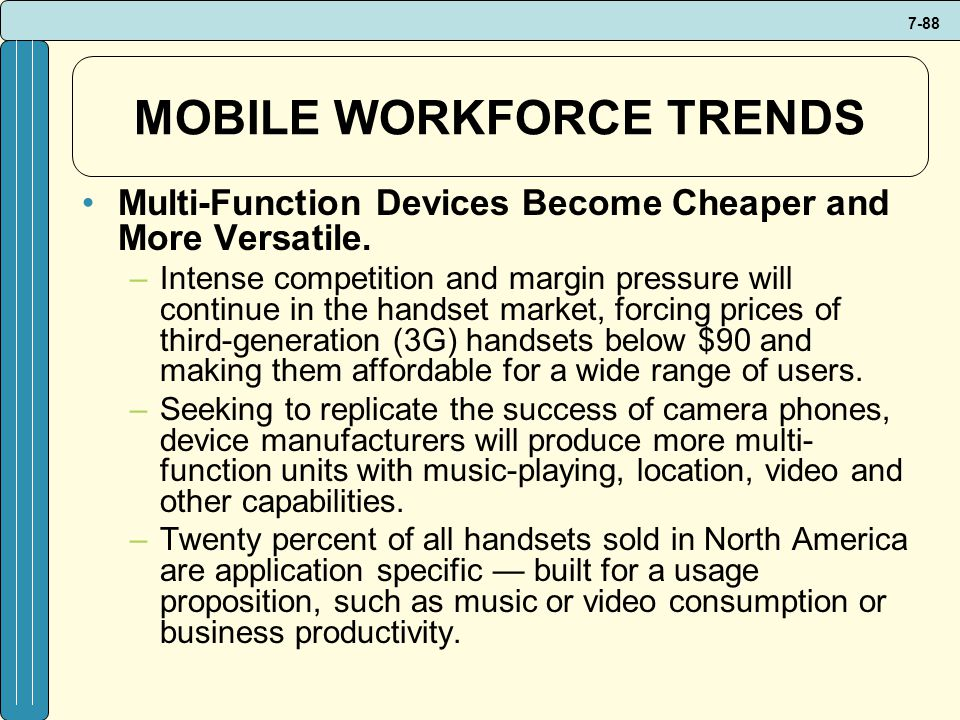 MOBILE WORKFORCE TRENDS