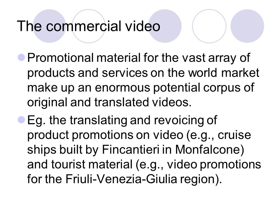 The commercial video