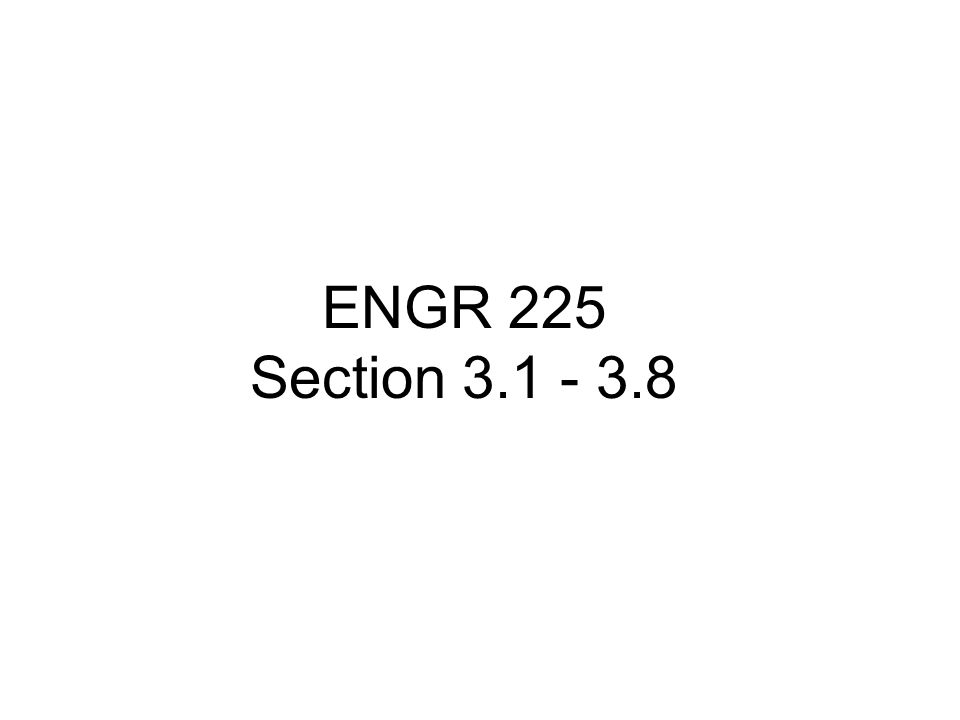 ENGR 225 Section