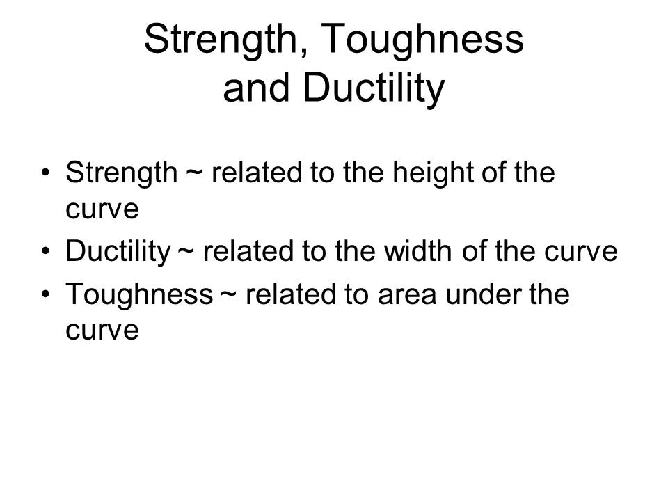 Strength, Toughness and Ductility
