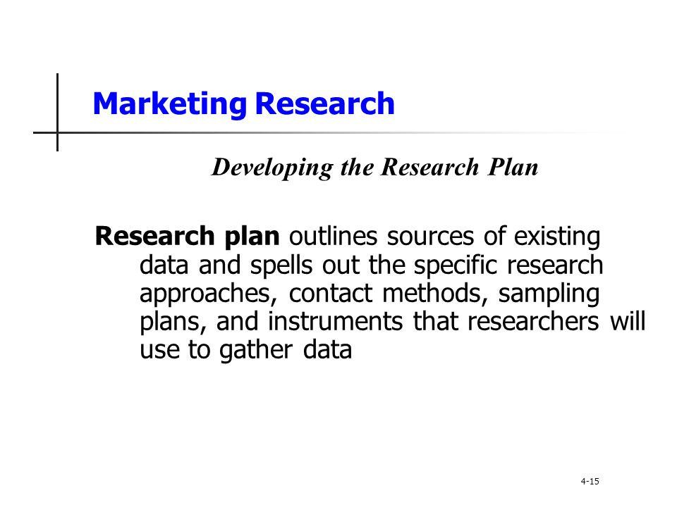 Developing the Research Plan