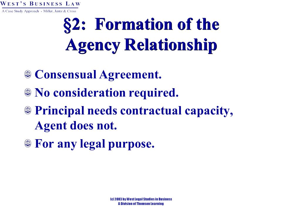 Chapter 31 Agency Formation And Duties Ppt Download