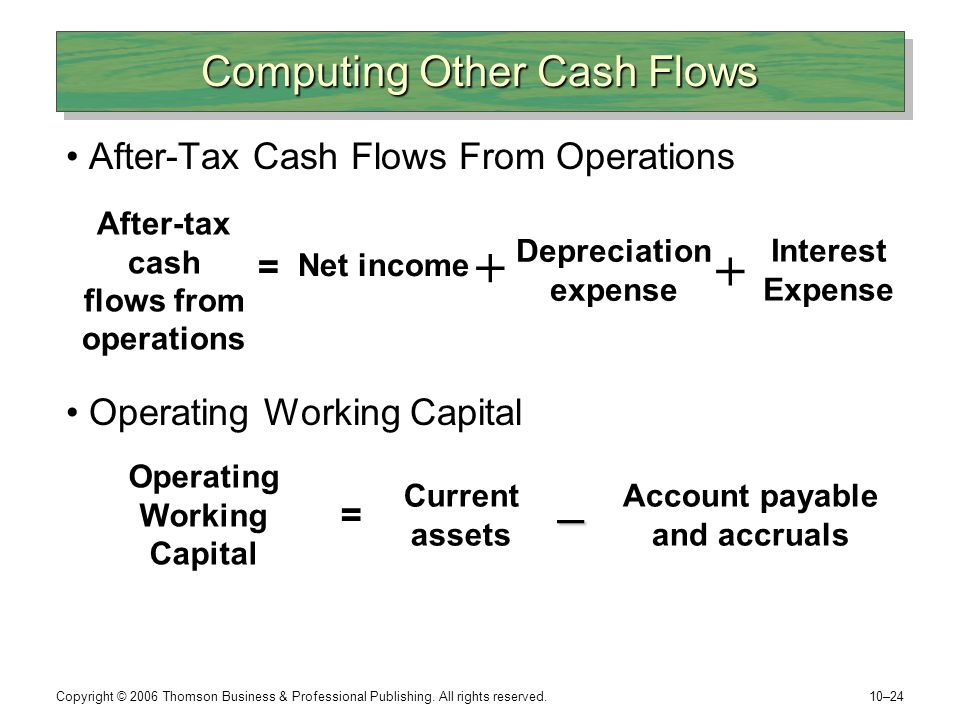 Computing Other Cash Flows