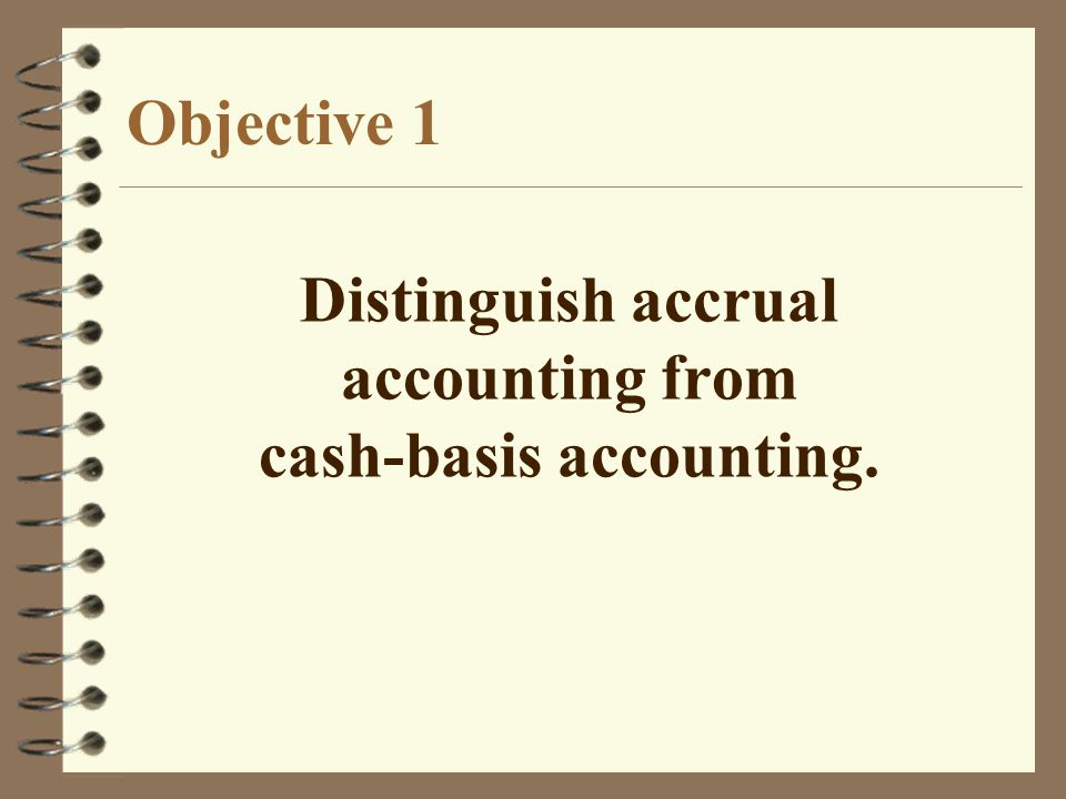 cash-basis accounting.
