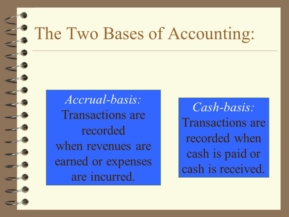 The Two Bases of Accounting: