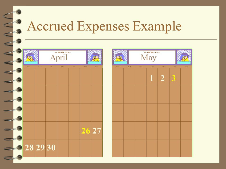Accrued Expenses Example