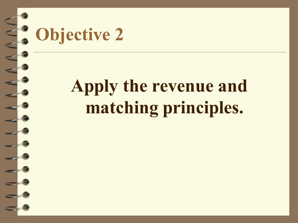 Apply the revenue and matching principles.