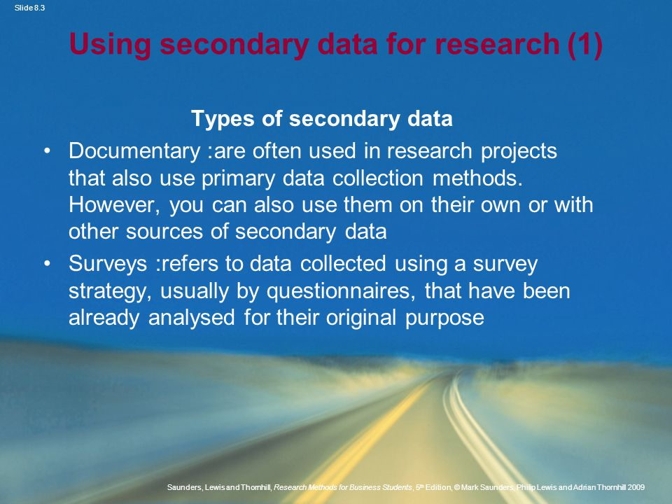 Using secondary data for research (1)