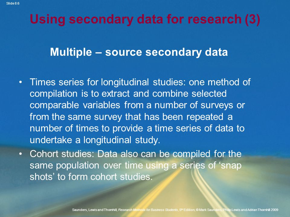 Using secondary data for research (3)