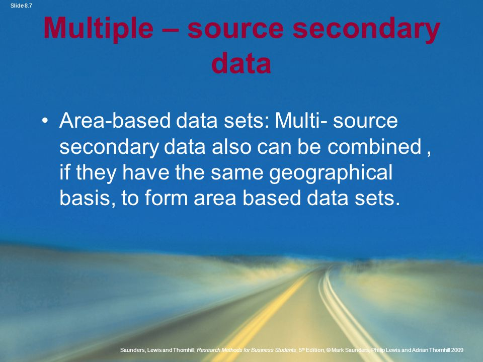 Multiple – source secondary data