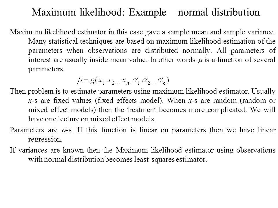 Maximum likelihood (ML) - ppt video online download