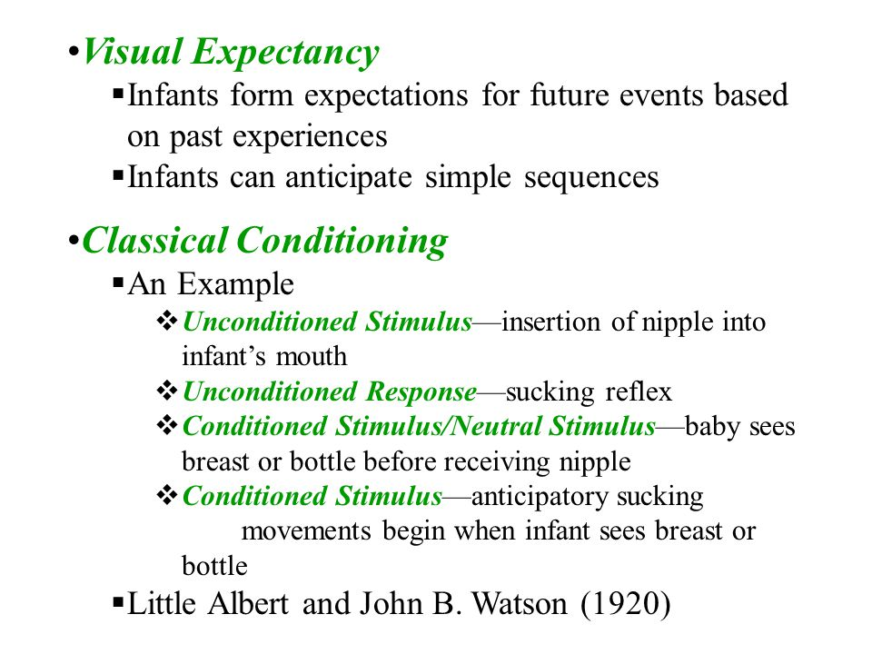 An example of classical conditioning in everyday life.