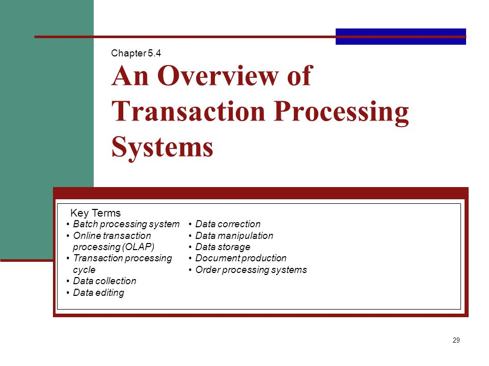 Electronic Commerce And Transaction Processing Systems Ppt Video - Document processing system