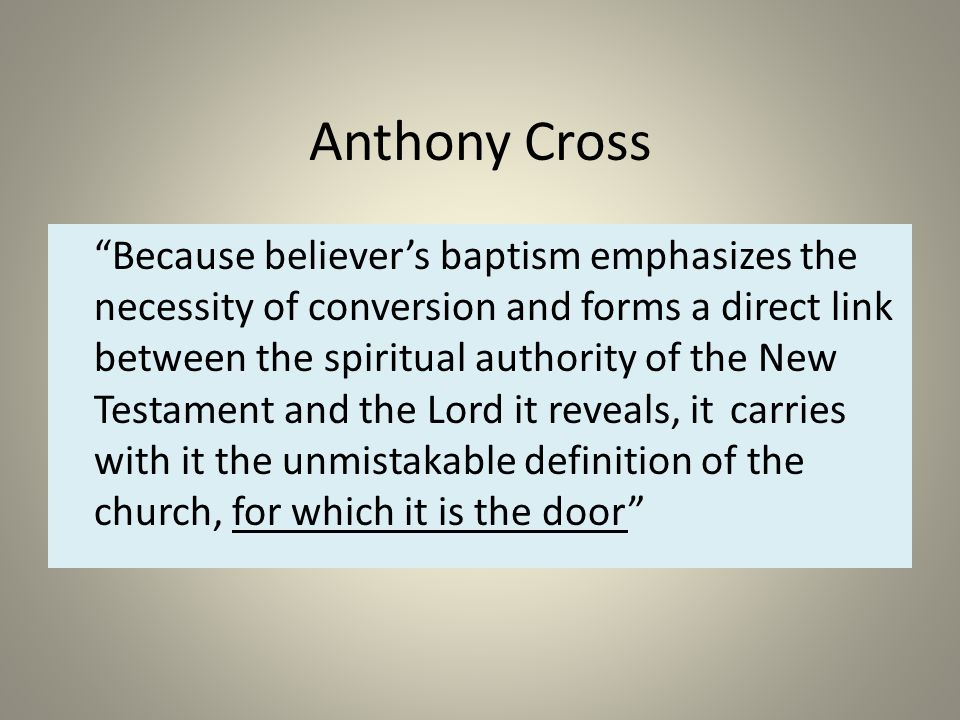 BELIEVER'S CHURCH  - ppt download