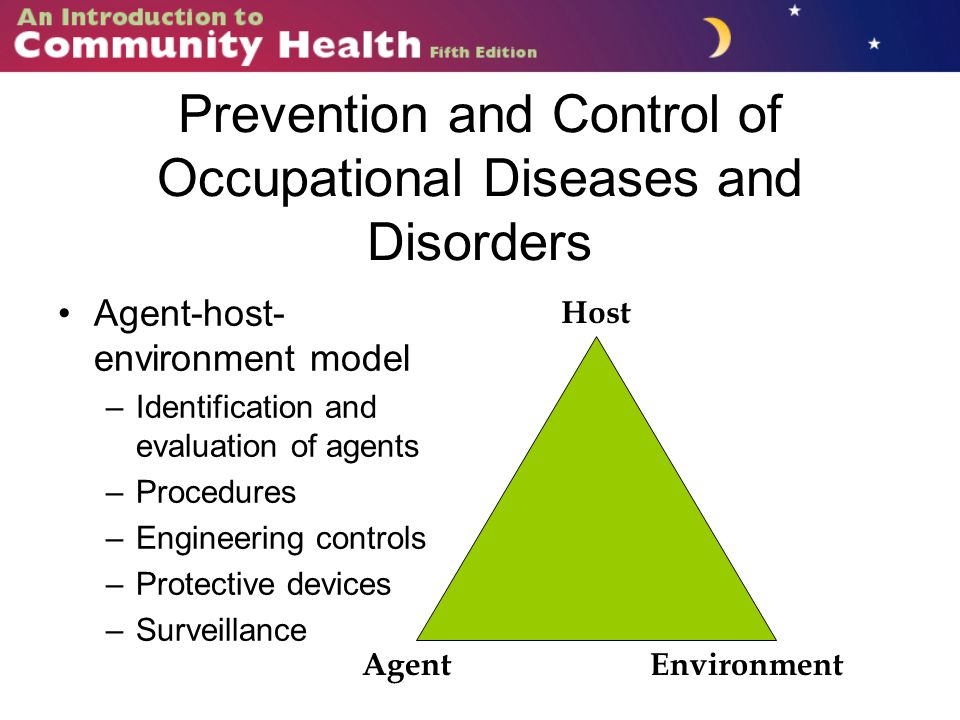 Prevention and Control of Occupational Diseases and Disorders