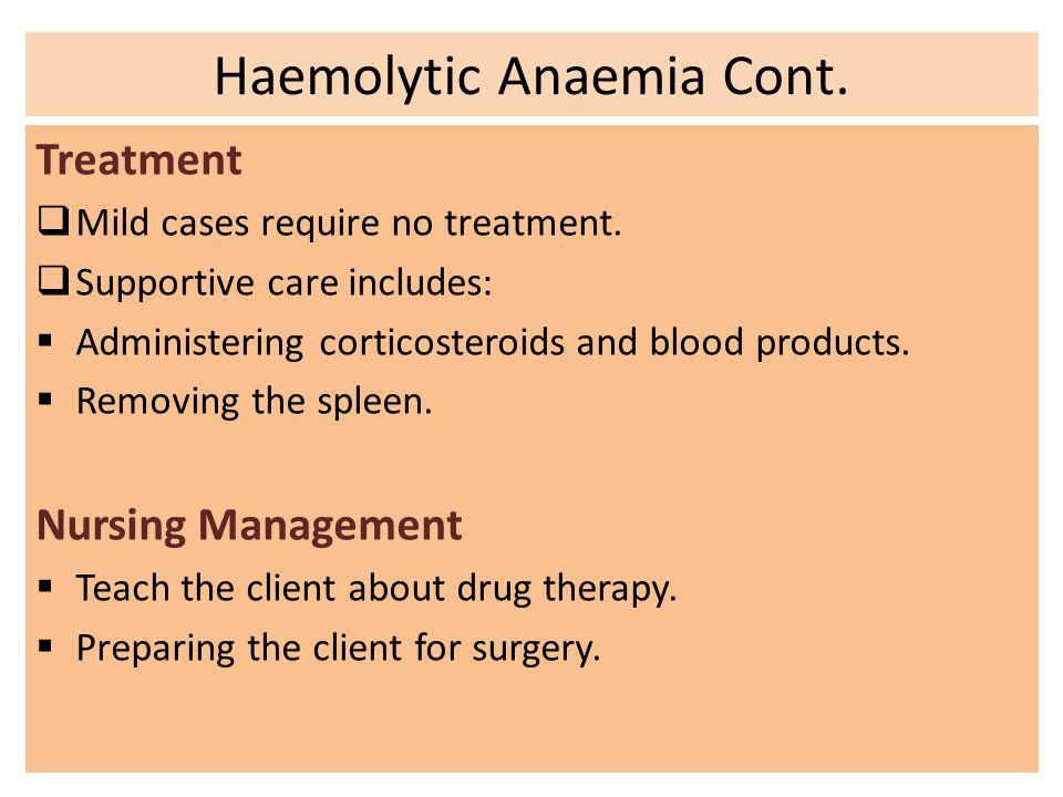 Anemia Nursing Management