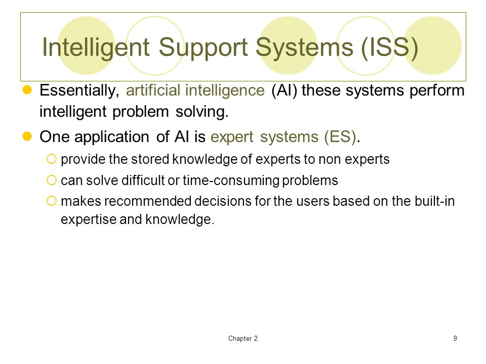 Intelligent Support Systems (ISS)