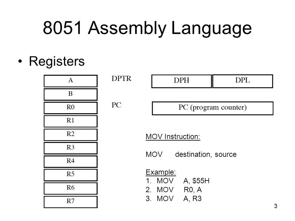 Assembly language data movement instructions. Mov instruction move.