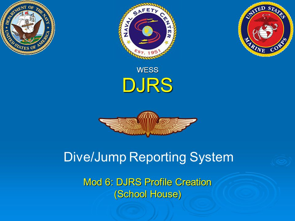 DJRS Dive/Jump Reporting System