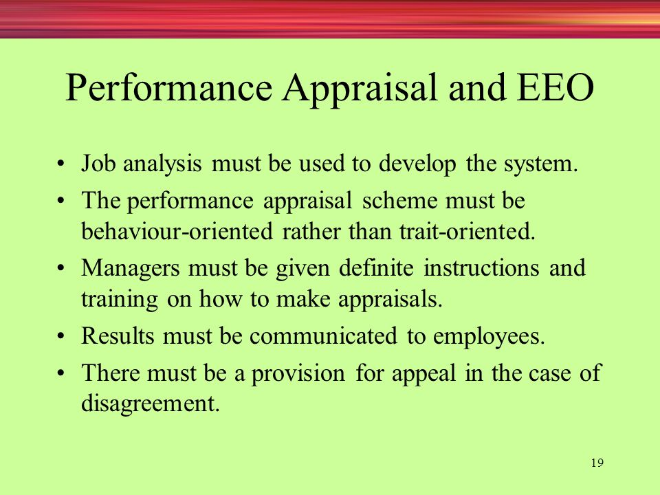 Performance Appraisal and EEO