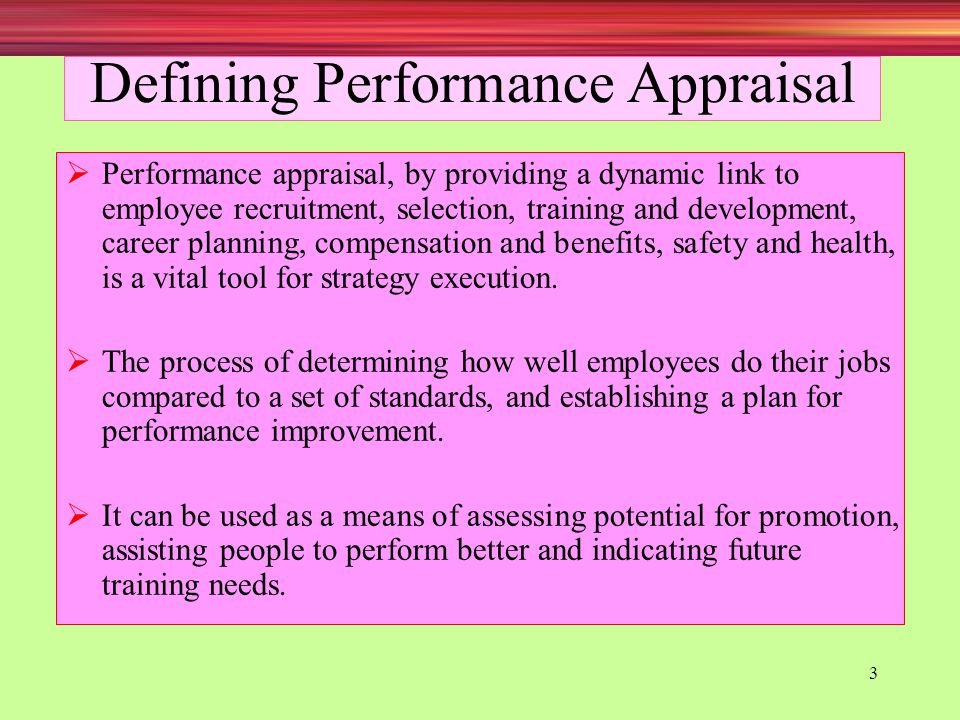 Defining Performance Appraisal