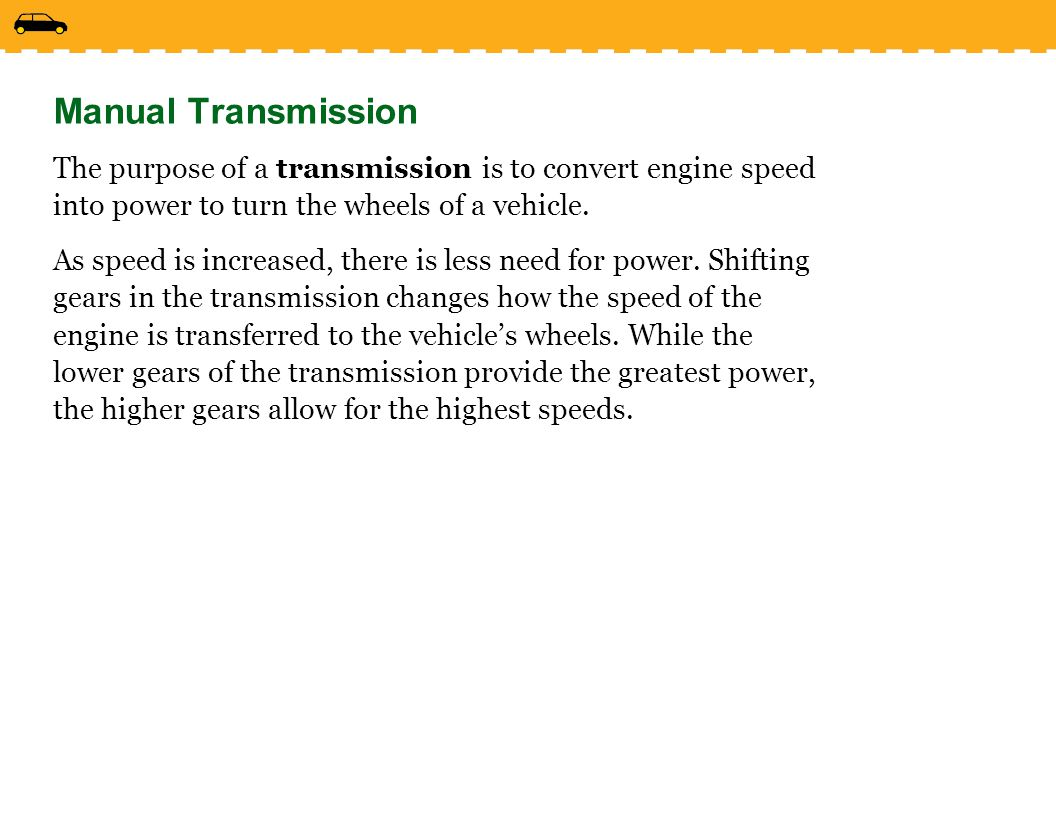 lesson 3 4 driving with a manual transmission ppt video online rh slideplayer com disadvantages of automated manual transmission Manual Transmission Diagram
