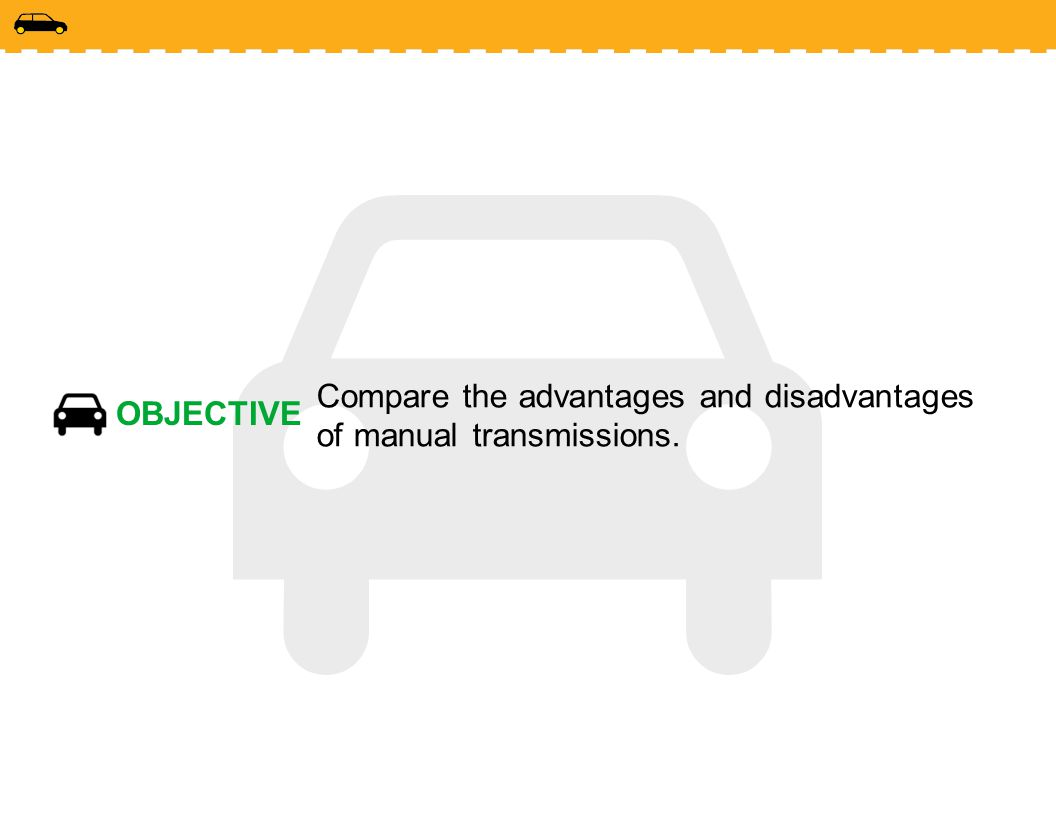 Compare the advantages and disadvantages of manual transmissions.