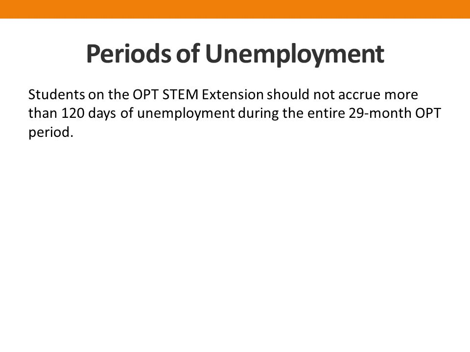 Periods of Unemployment
