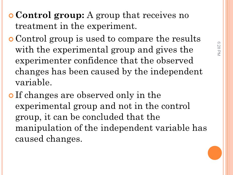 Control group: A group that receives no treatment in the experiment.