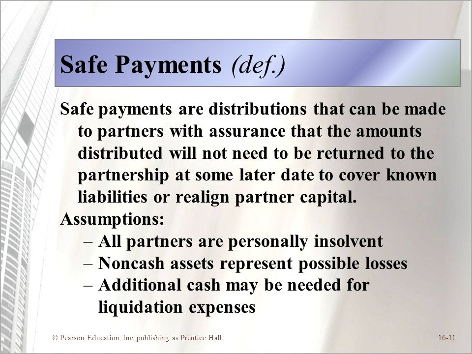 Safe Payments (def.)