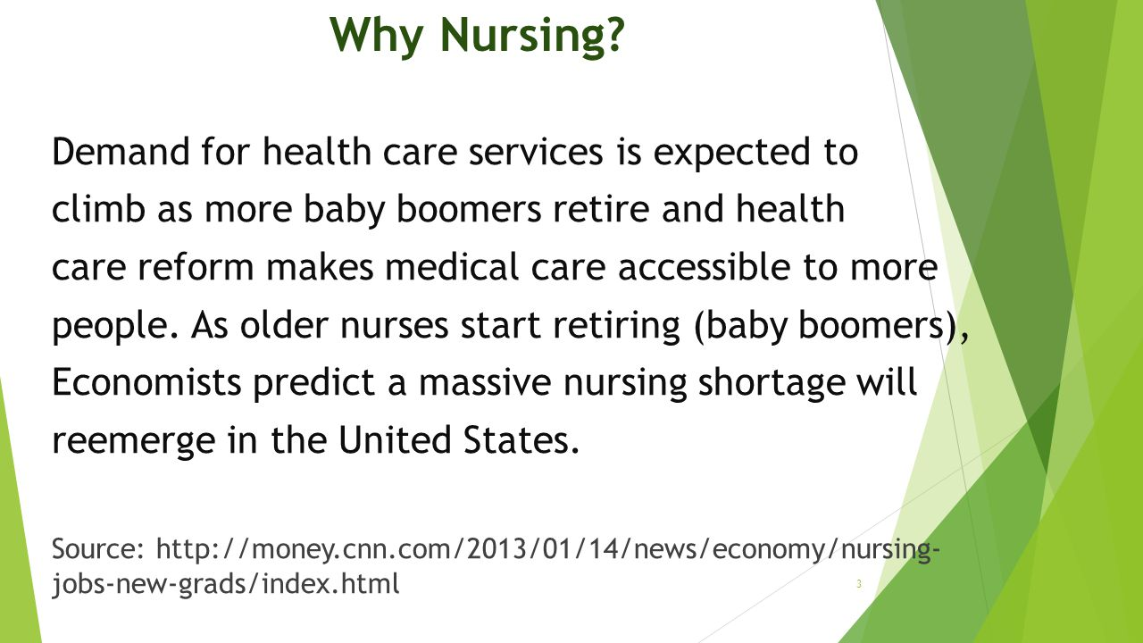Why Nursing Demand for health care services is expected to