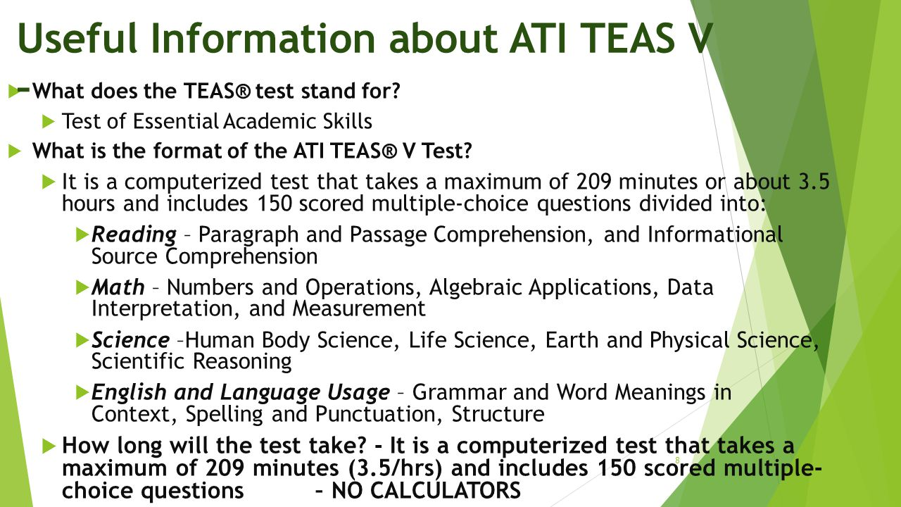 Useful Information about ATI TEAS V –