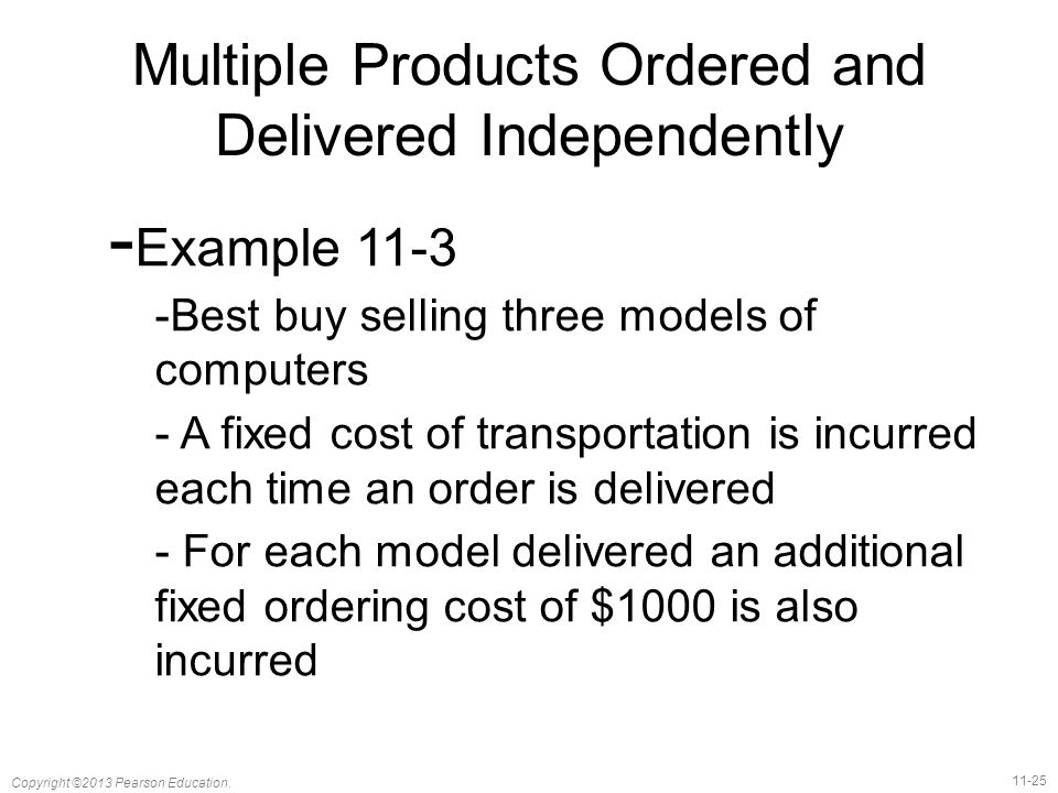 Multiple Products Ordered and Delivered Independently