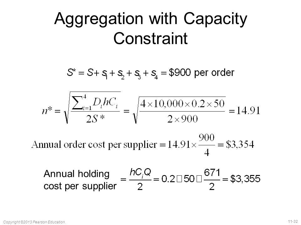 Aggregation with Capacity Constraint