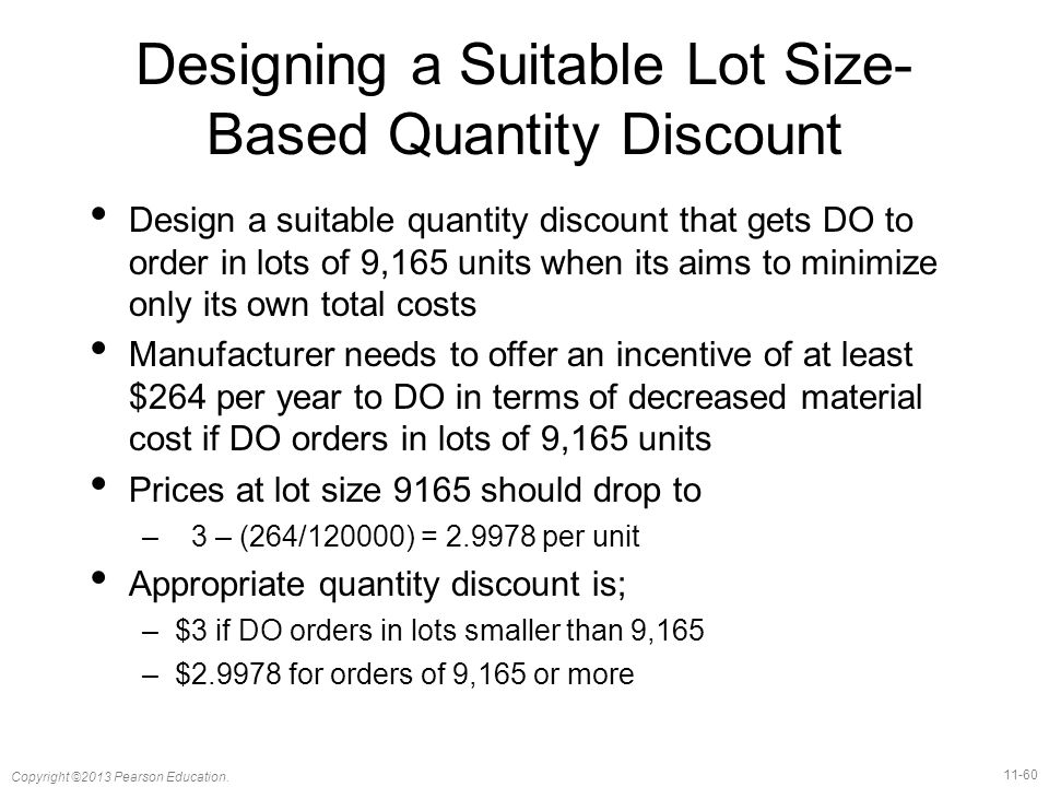 Designing a Suitable Lot Size-Based Quantity Discount