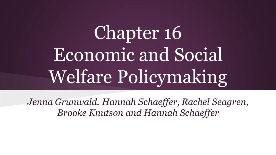 social welfare policy making 18 Chapter 17 social welfare policy outline i the policy-making process • public policy - an intentional course of action followed by government in dealing with some problem or matter of concern a theories of public policy • elite theory - chosen few elite make all important decisions in society two parts: 1.