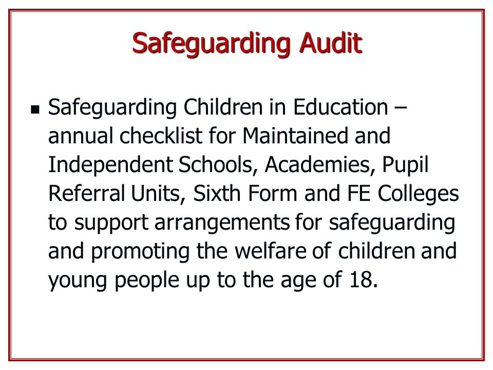 Safeguarding Audit