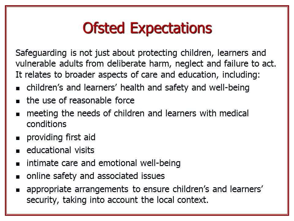 Ofsted Expectations