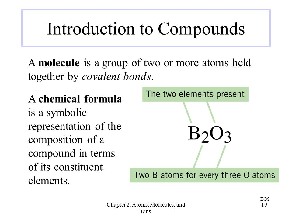 Introduction to Compounds