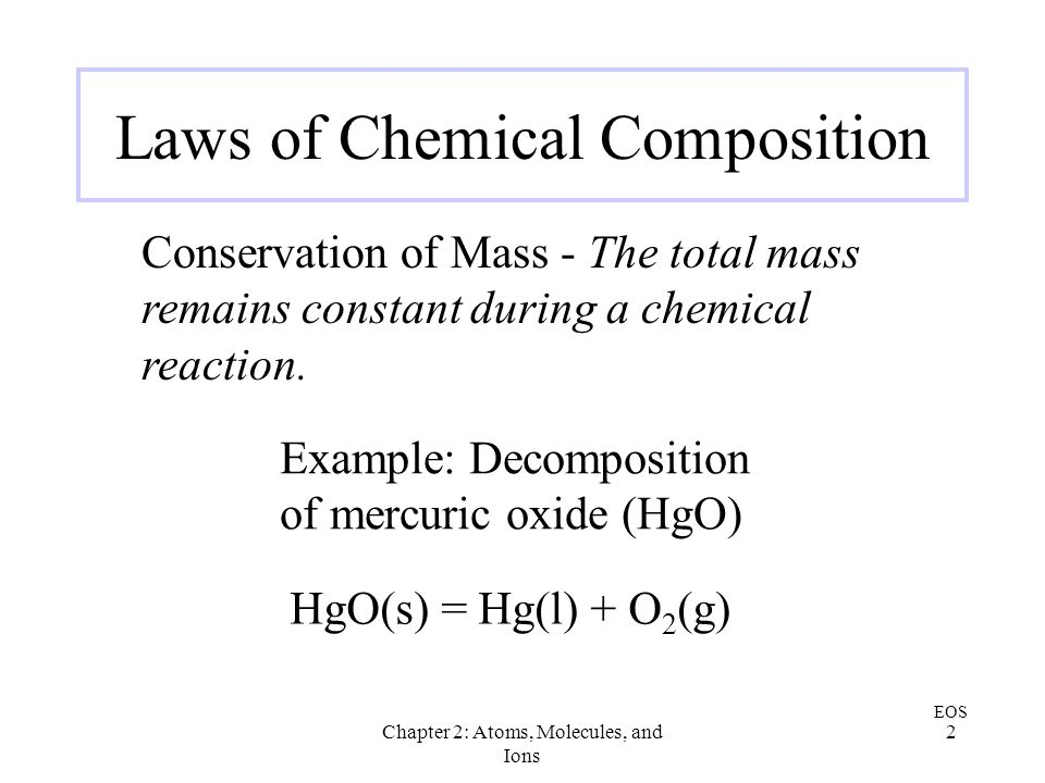 Laws of Chemical Composition